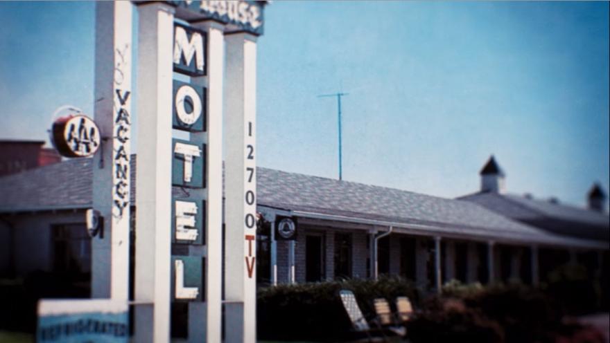Fotografia do Motel de Foos, onde este foi voyeur.